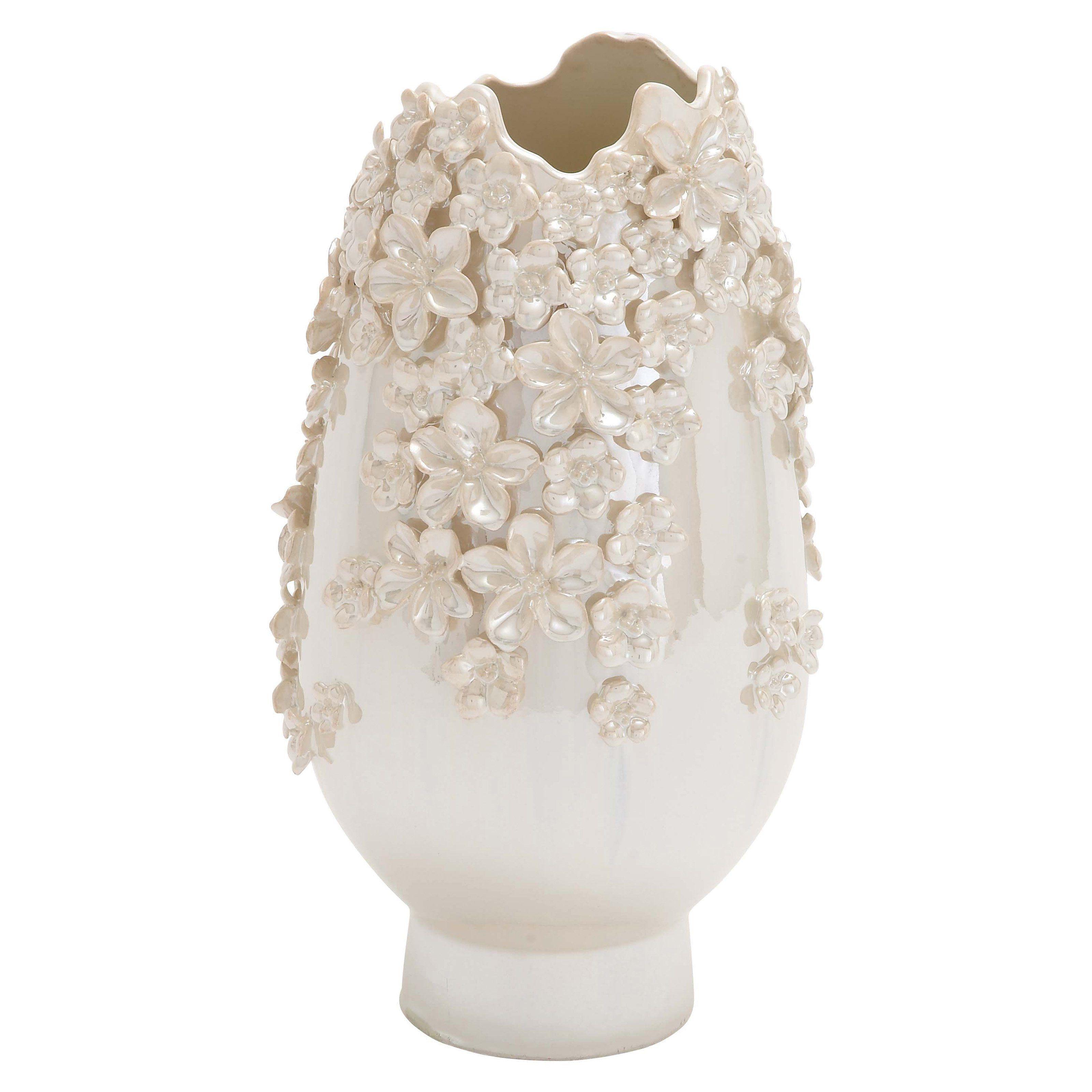 DecMode Floral Ceramic Vase - 62161