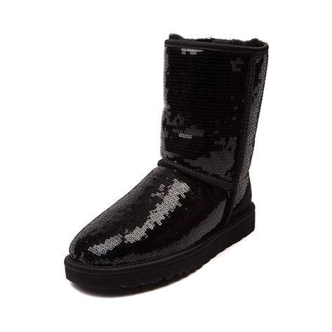 44b17813a1b Shop for Womens UGG® Classic Short Sequin Boot, Black, at Journeys ...