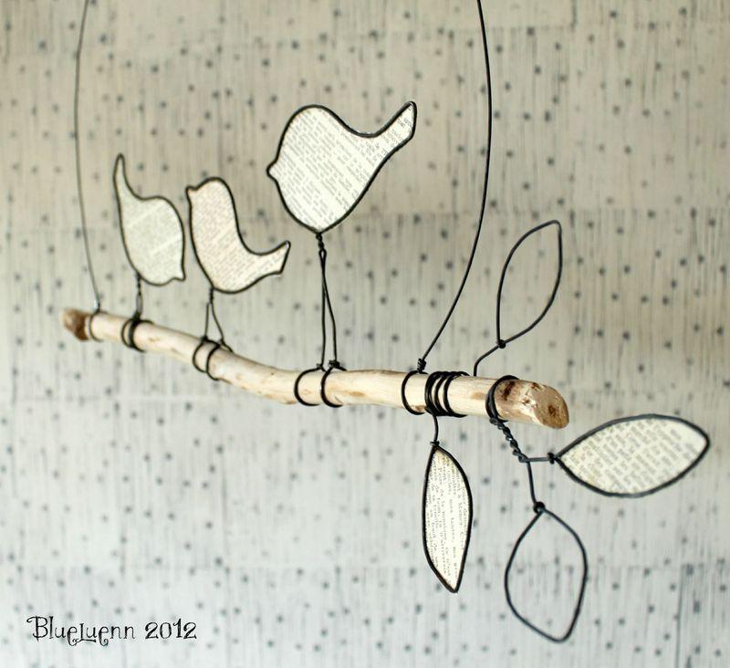 Sur la branche  Wire  Pinterest  장식 아이디어, 철사 공예 및 나무 공예