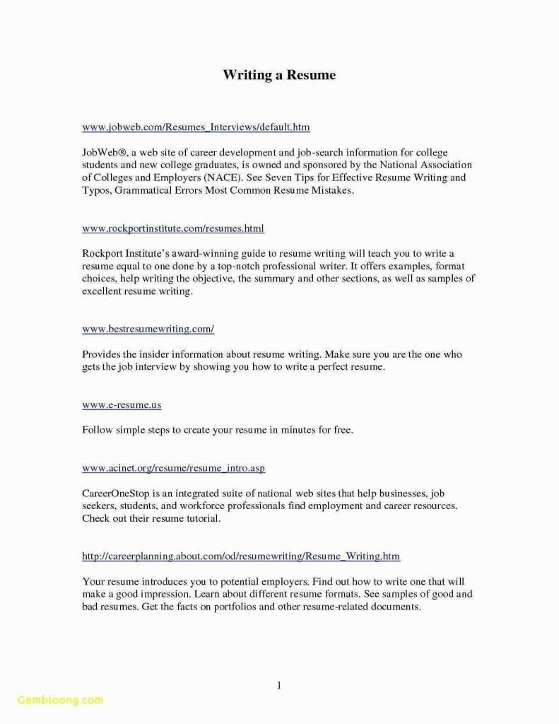 78 Unique Collection Of Cv Examples For College Students Uk