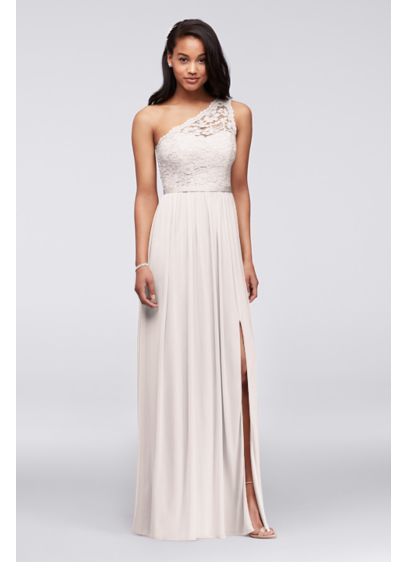 ca666c28be Long Yellow Soft & Flowy David's Bridal Bridesmaid Dress | Wedding ...