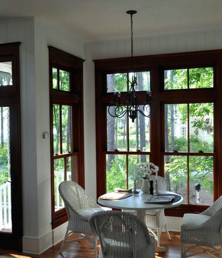 the stained wood trim stays what colors will work with it - Dining Room Paint Colors Dark Wood Trim