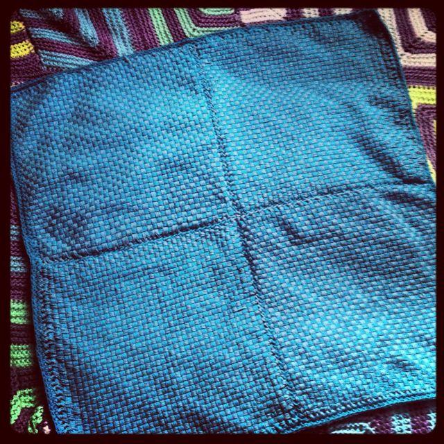 Baby blanket on Martha Stewart loom knitter with cotton yarn ... : martha stewart baby quilt - Adamdwight.com