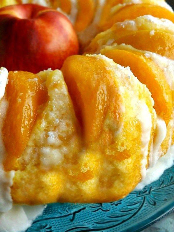 Fresh Homemade Summer Peach Pound Cake Dessert #peachcobblerpoundcake