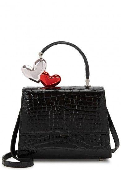 1c3f6452f46524 MING RAY Je T'aime small black crocodile box bag | bizarre bags in ...