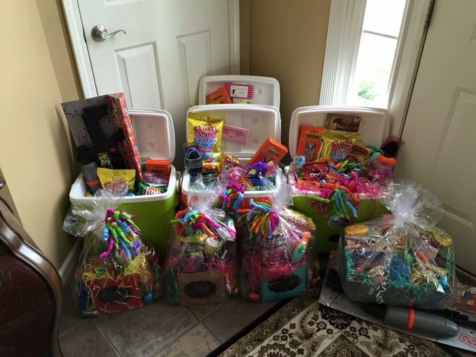 Use coolers for college age kids easter baskets could do a fun use coolers for college age kids easter baskets could do a fun laundry basket negle Image collections