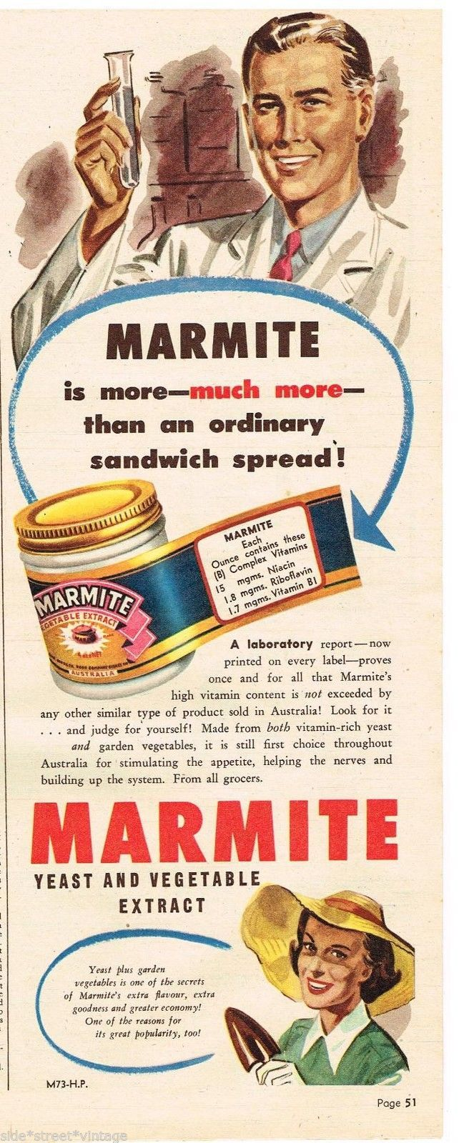 Marmite poster Wall art. Reproduction Vintage food advert