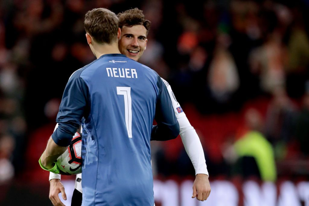 Manuel Neuer Of Germany Leon Goretzka Of Germany Celebrates The Manuel Neuer Celebrities Germany