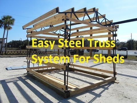 metal framing shed. Steel Truss Easy Shed Construction - YouTube Metal Framing