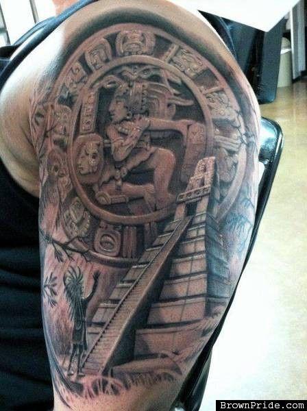 mayan tattoo by alan padilla skin art pinterest mayan tattoos tattoo and aztec. Black Bedroom Furniture Sets. Home Design Ideas