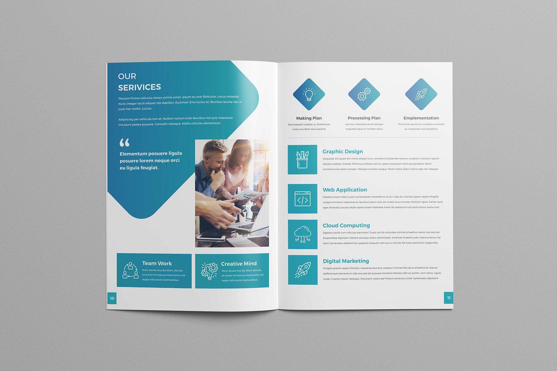 A4 Brochure Template Brochure Template Logo Infographic Brochure