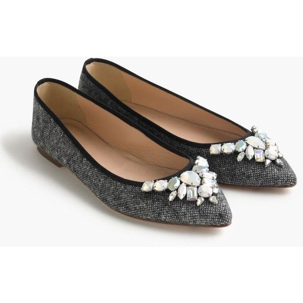 Gemma jeweled tweed flats - women - Women - J.