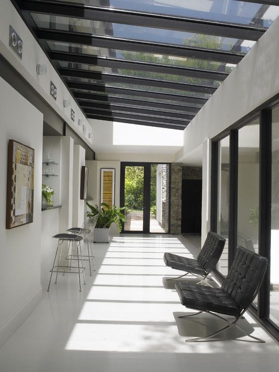 Glass Roofs for Cool House Contemporary Hall With Glass Roof