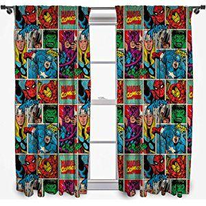 Disney Marvel Comics Strike 54 Inch Curtain Set Boys