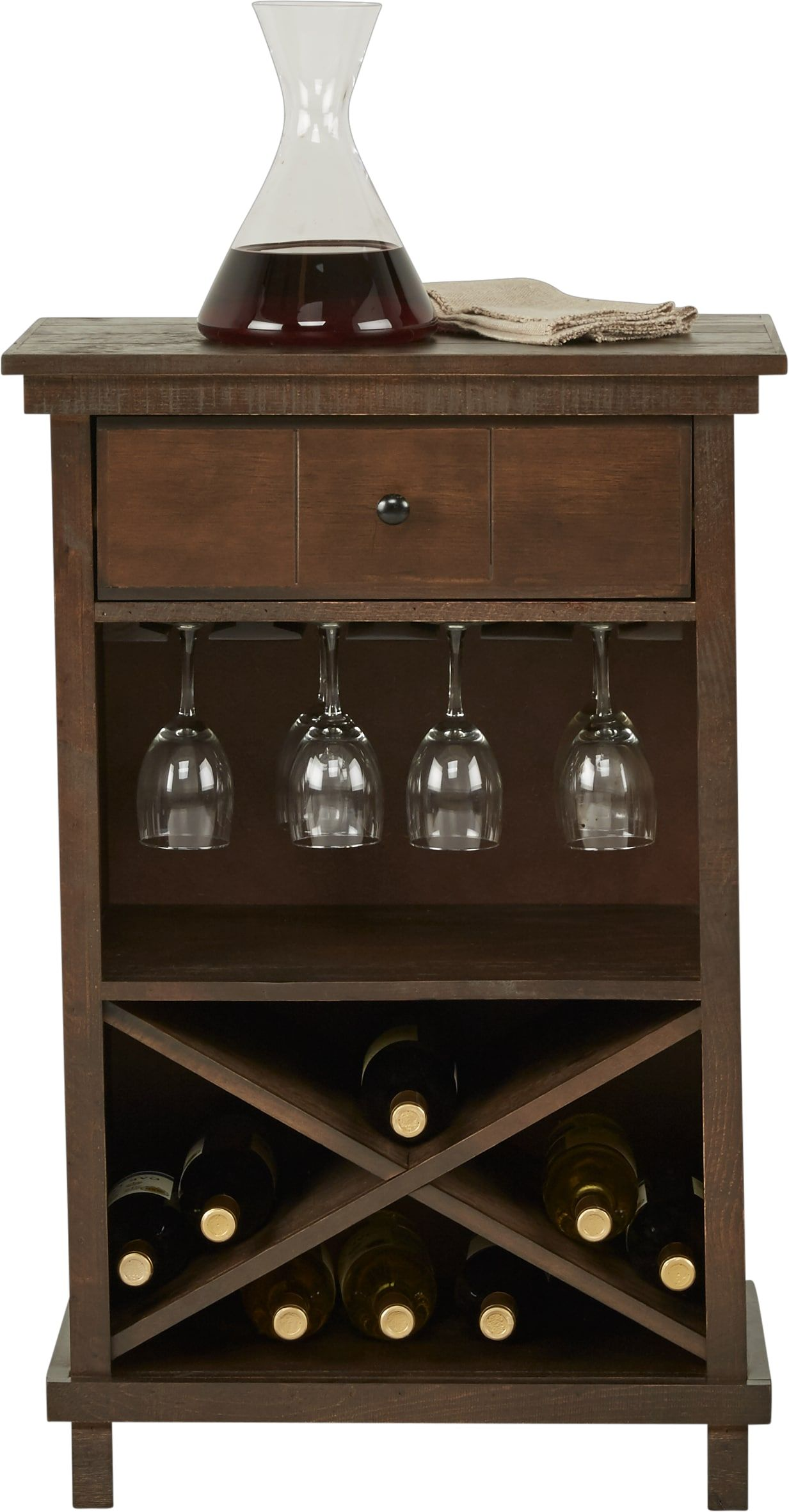 Havenwood Brown Wine Cabinet Wine Cabinets Cabinet Bottle Storage