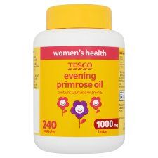 R0931 402577 Tesco Evening Primrose Oil 1000Mg X 240