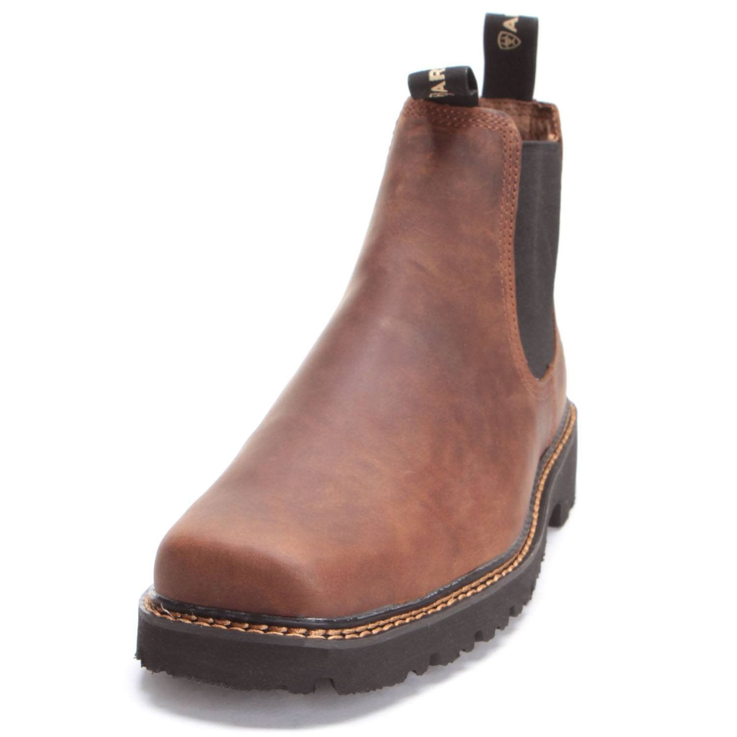 454dd925e2e Ariat Mens Spot Hog Distressed Square Toe Work Boots | Boots in 2019 ...