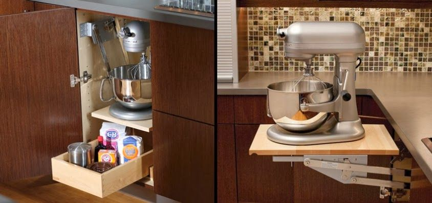 A @KitchenAid Mixer or other heavy kitchen appliances can be lifted with ease to countertop level than conveniently stored in its own cabinet without straining your back! Description from pinterest.com. I searched for this on bing.com/images