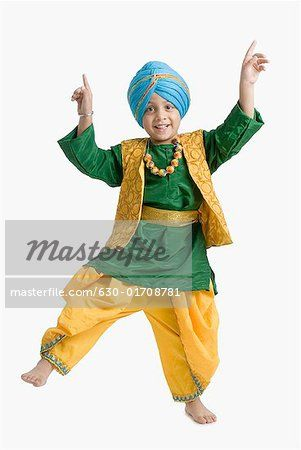 8f1642a87 Portrait of a boy doing bhangra | Bhangra outfit | Indian designer ...