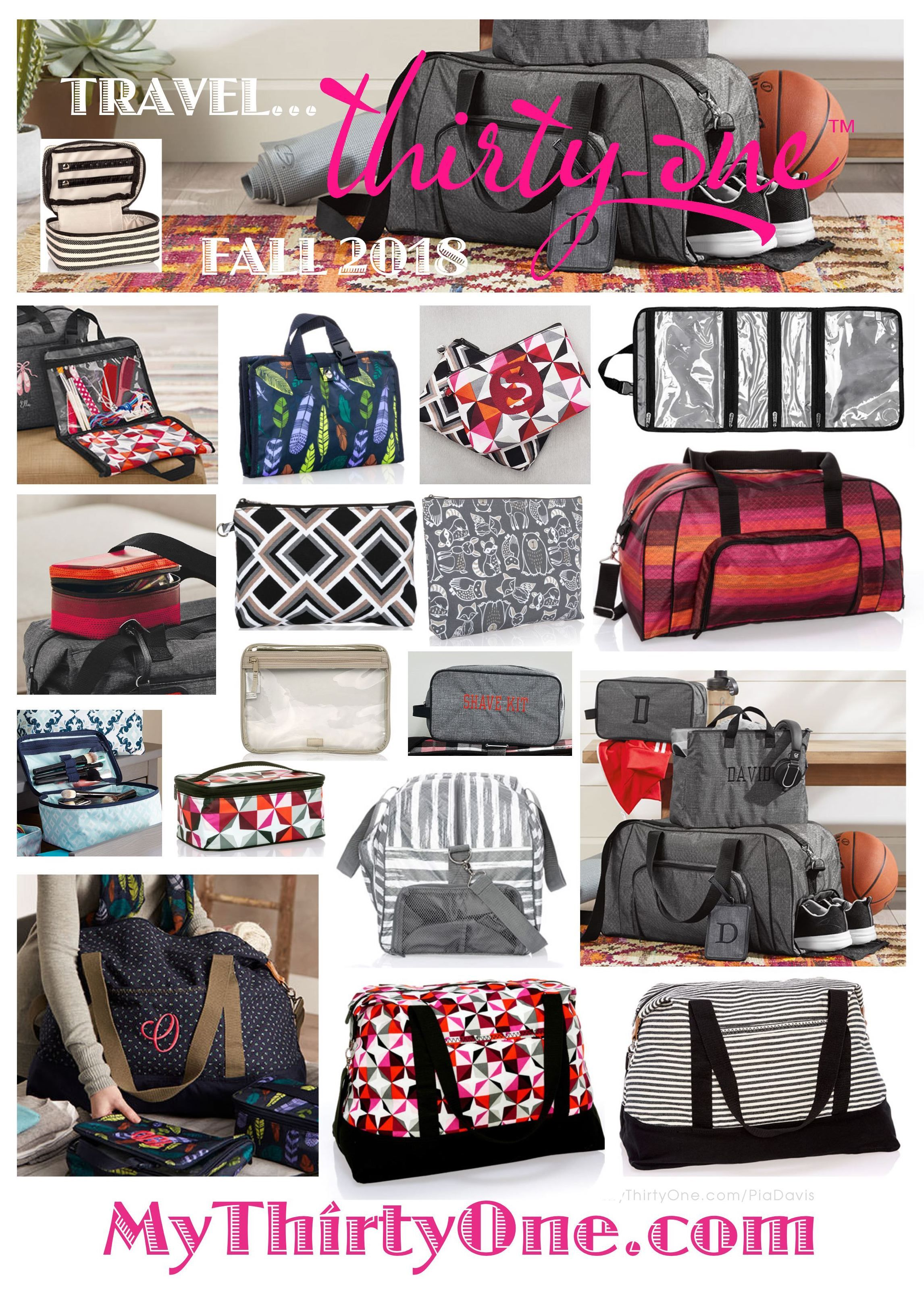31 Travel With Thirty One Gifts This Fall 2018 Duffles Overnight Bags As Well Many Accessories Can Be Found At Mythirtyone Piadavis