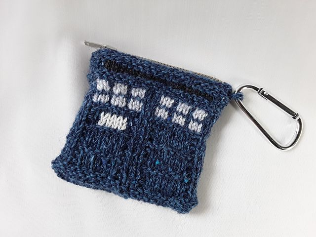 Ravelry: Tardis Coin Purse pattern by Claire Sears   Coin ...