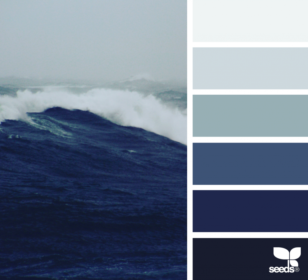 Farbpalette Blau, Farbschemata Und Color Concept