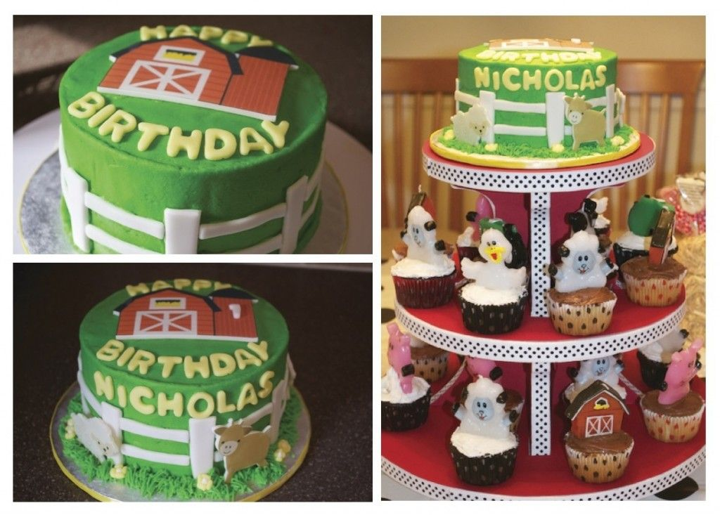 Farmyard Animals Birthdaycake I made for my cousins son