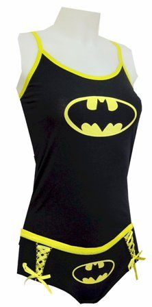 Graffiti Laceup Batman Tank Kleid