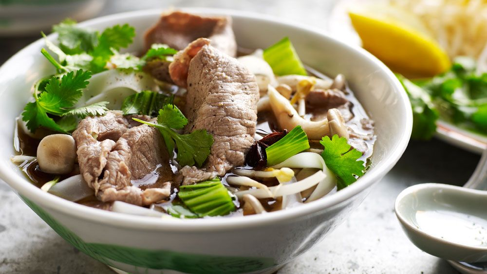 This simple and tasty pho is the perfect combination of spicy, fresh and hearty—and it's ready to eat in just 40 minutes.