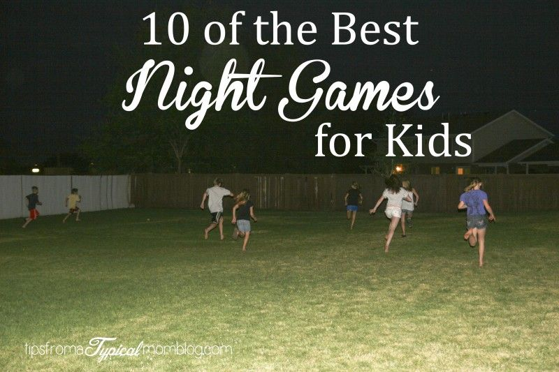Summer Outdoor Night Games for Kids and Teens   summer