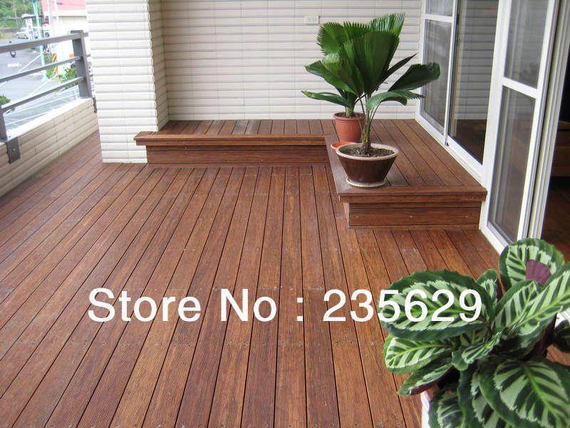 Respectueux De Lu0027environnement Bambou Platelage Pour Lu0027extérieur Erea/Foncé  Chocolat Personnalisé