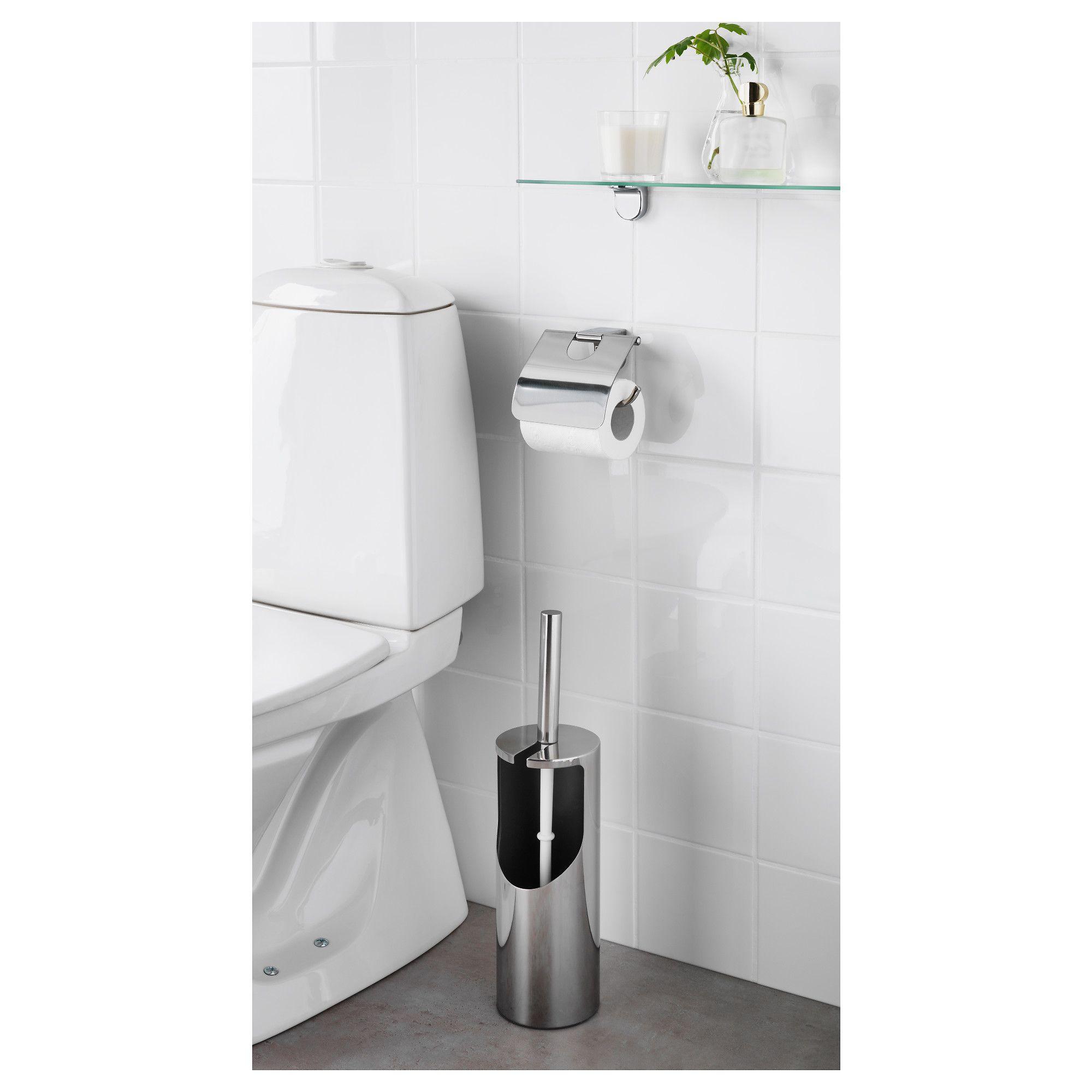 ikea kalkgrund toilet brush holder chrome plated. Black Bedroom Furniture Sets. Home Design Ideas