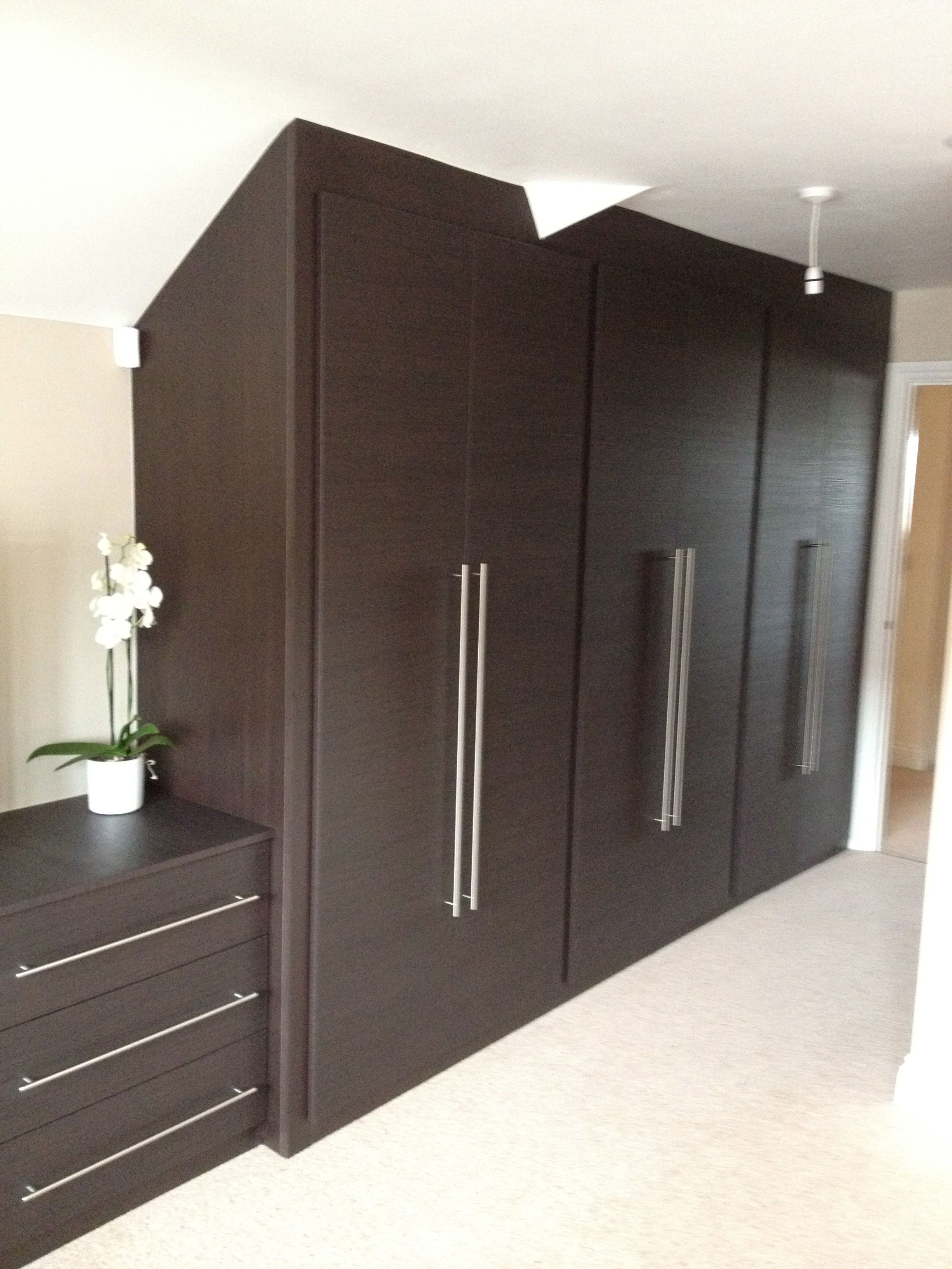 Built In Bedroom Furniture Designs Luxury Loft Bedrooms Angled Fitted Wardrobes  House Ideas