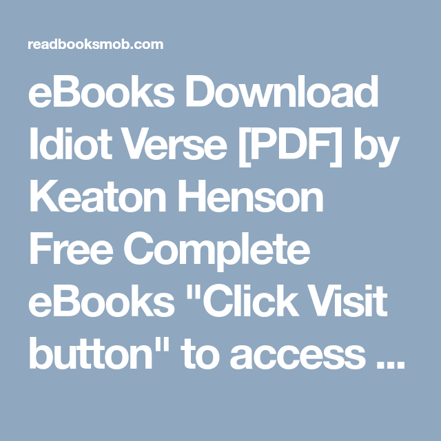 Ebooks download idiot verse pdf by keaton henson free complete ebooks download idiot verse pdf by keaton henson free complete ebooks click visit malvernweather Images