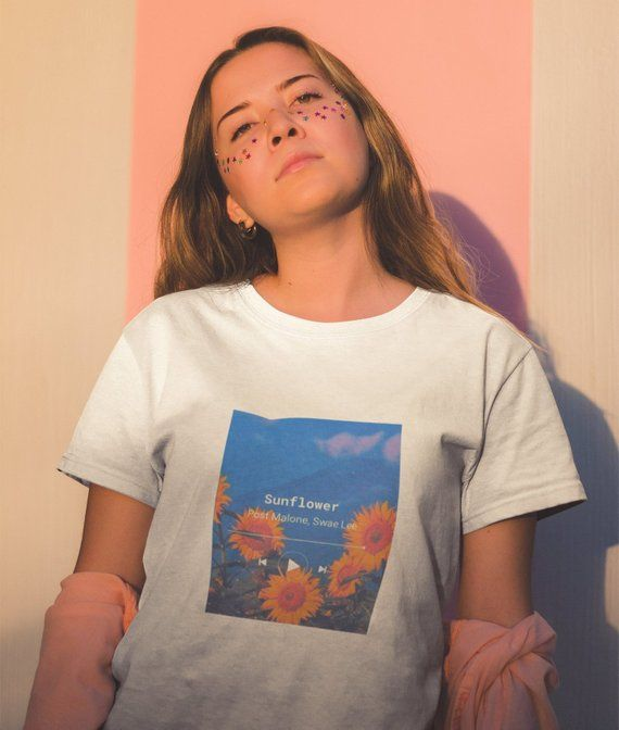 Post Malone Swae Lee Sunflower Aesthetic Vintage Graphic T