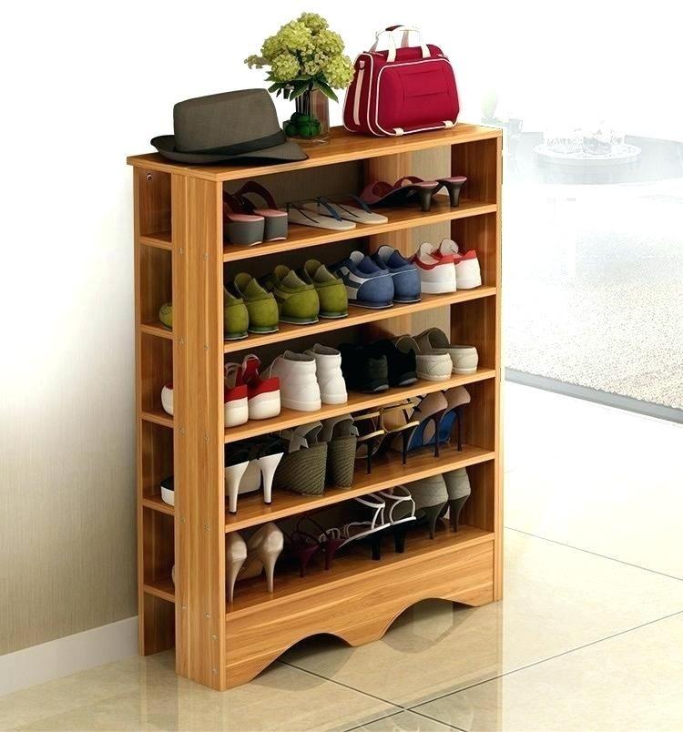 simple wooden shoe rack wood storage shelves space on shoe rack wooden with door id=39144
