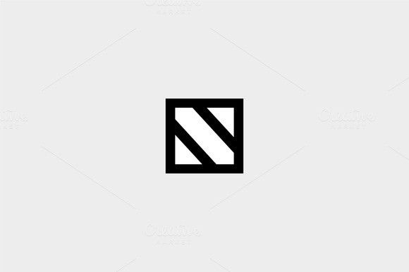 Geometric Letter N Logo N Logo Design Letter Logo Design