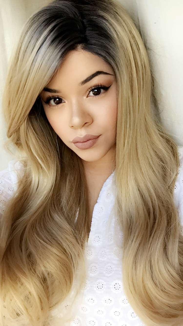Sharon Synthetic Lace Front Wig UniWigs  Official Siteombre - Platinum hairstyles