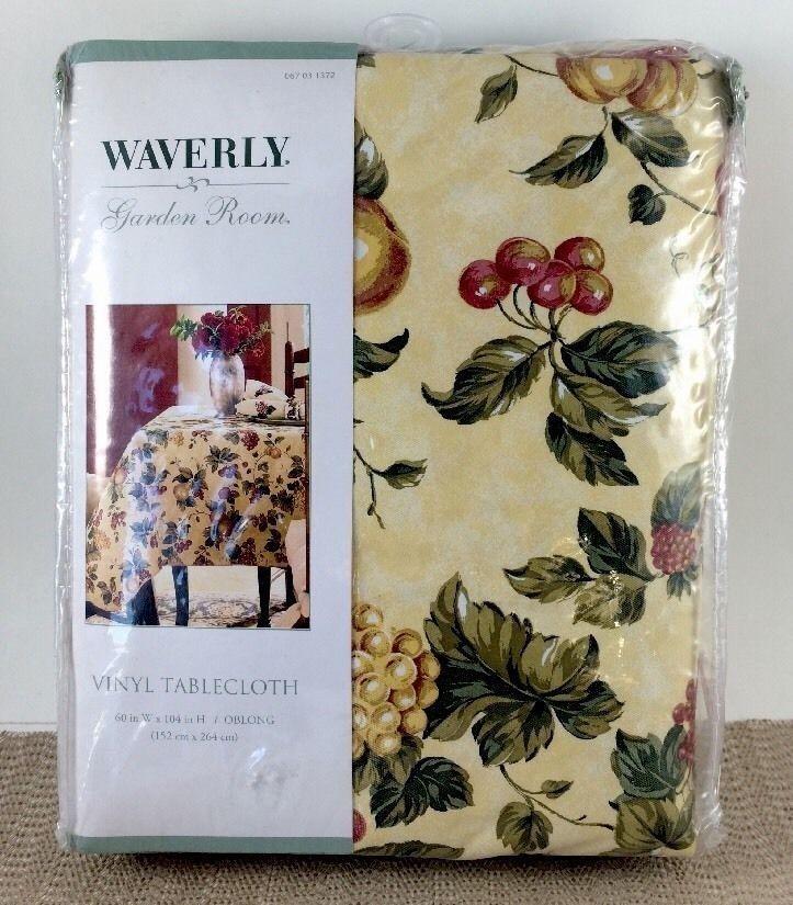 Merveilleux Waverly Garden Room Floral Manor Oblong Vinyl Tablecloth 60x104 In 152x264  Cm