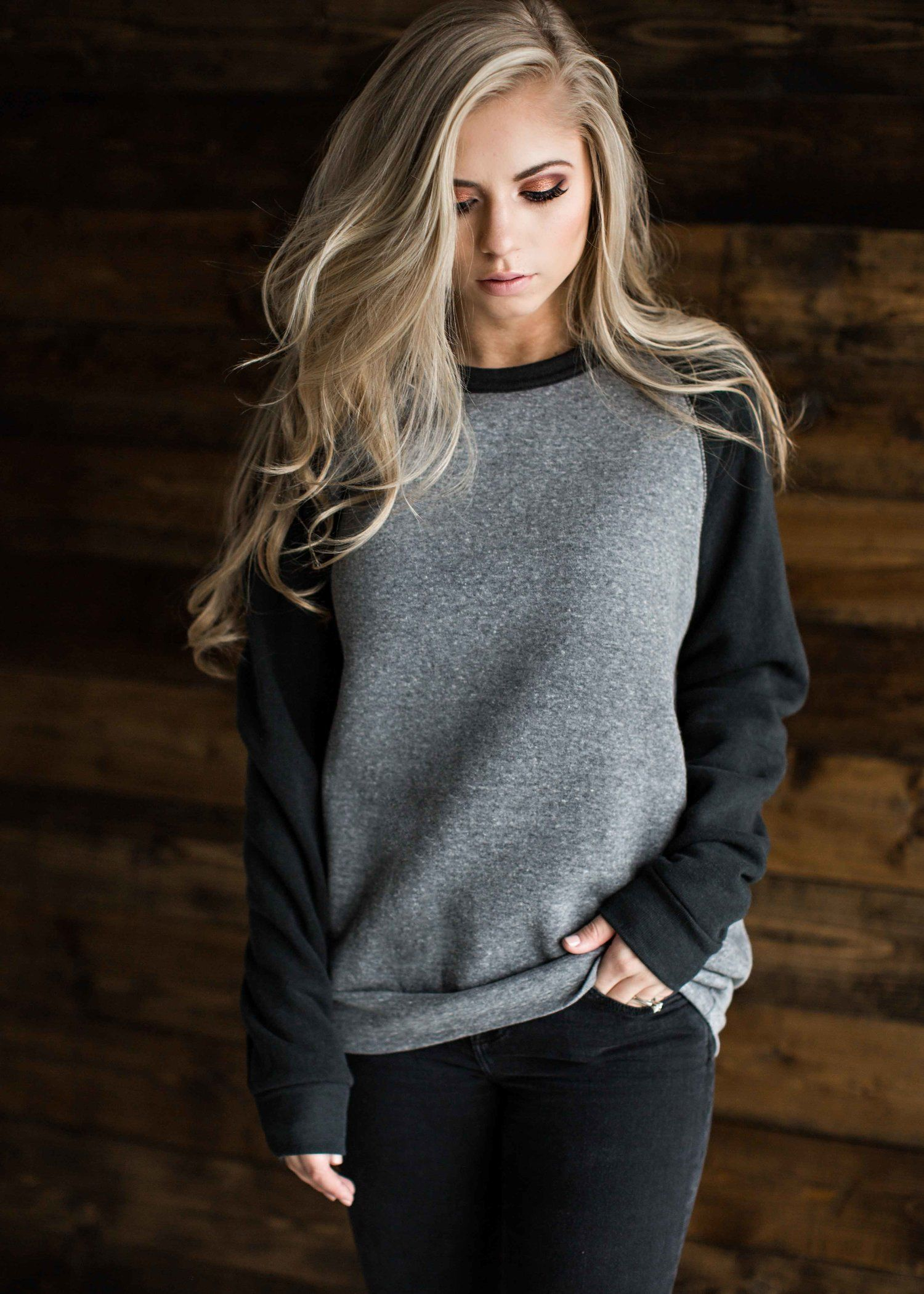 bd80de301 sweatshirt, comfy, hoodie, baseball tee blonde, hair, style, fashion, ootd,  womens fashion, shop, jessakae