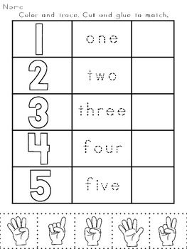 Numbers Printables Counting Cardinality Practice For