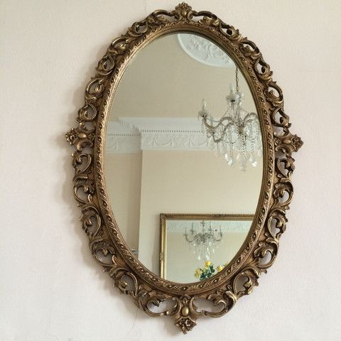 A Large Baroque Vintage English Mirror - Miroir Baroque Vintage Anglais - Free delivery in UK and France