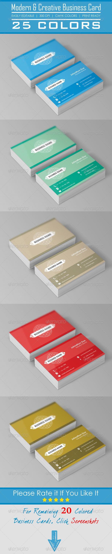 Corporate & Creative Business Cards   Standard business card size ...