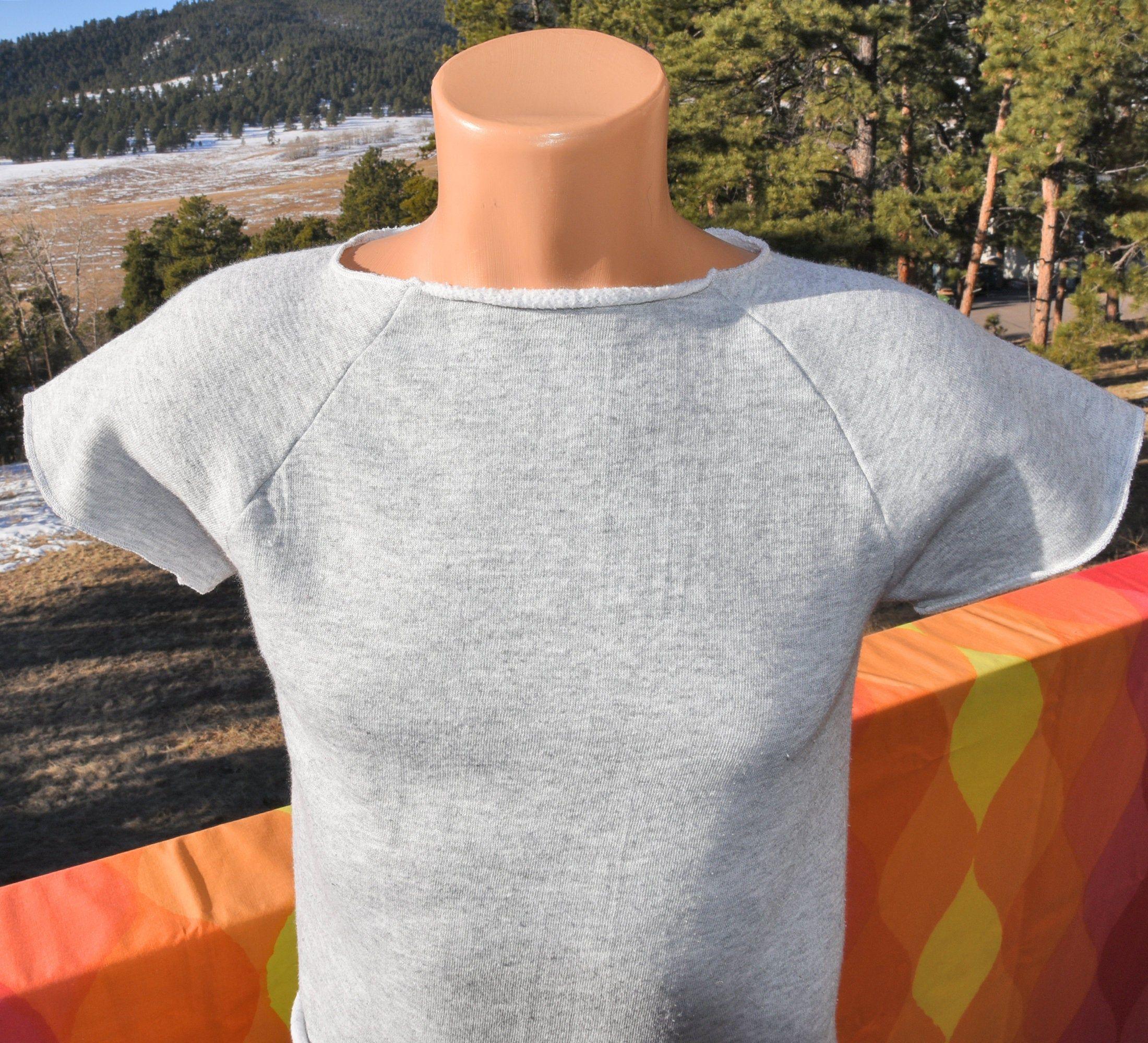 80s Style Sweatshirt Cut
