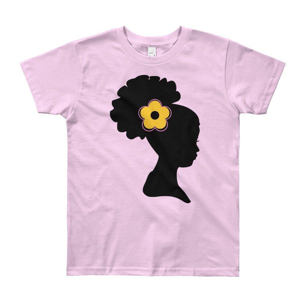 Natural hair puff years old girls tshirt in tshirts