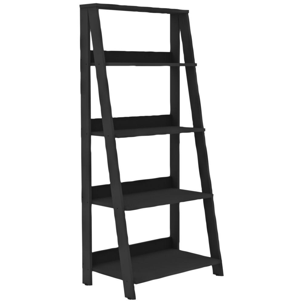 Fargo black wood shelf ladder bookshelf style w products