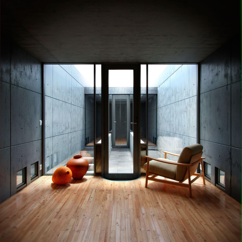 Azuma House Interior Living Room Pinterest Tadao
