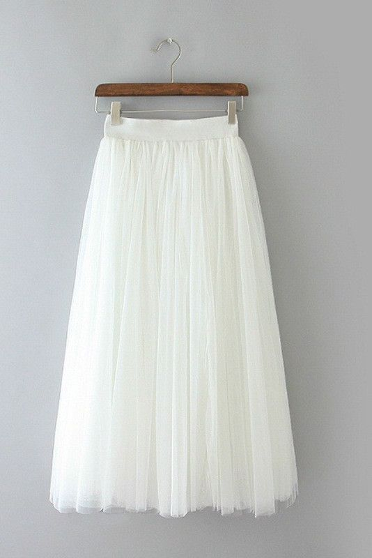 894ea643d7 White Tulle Midi Skirt #genuine-people | Fashion For Women Over 50 ...