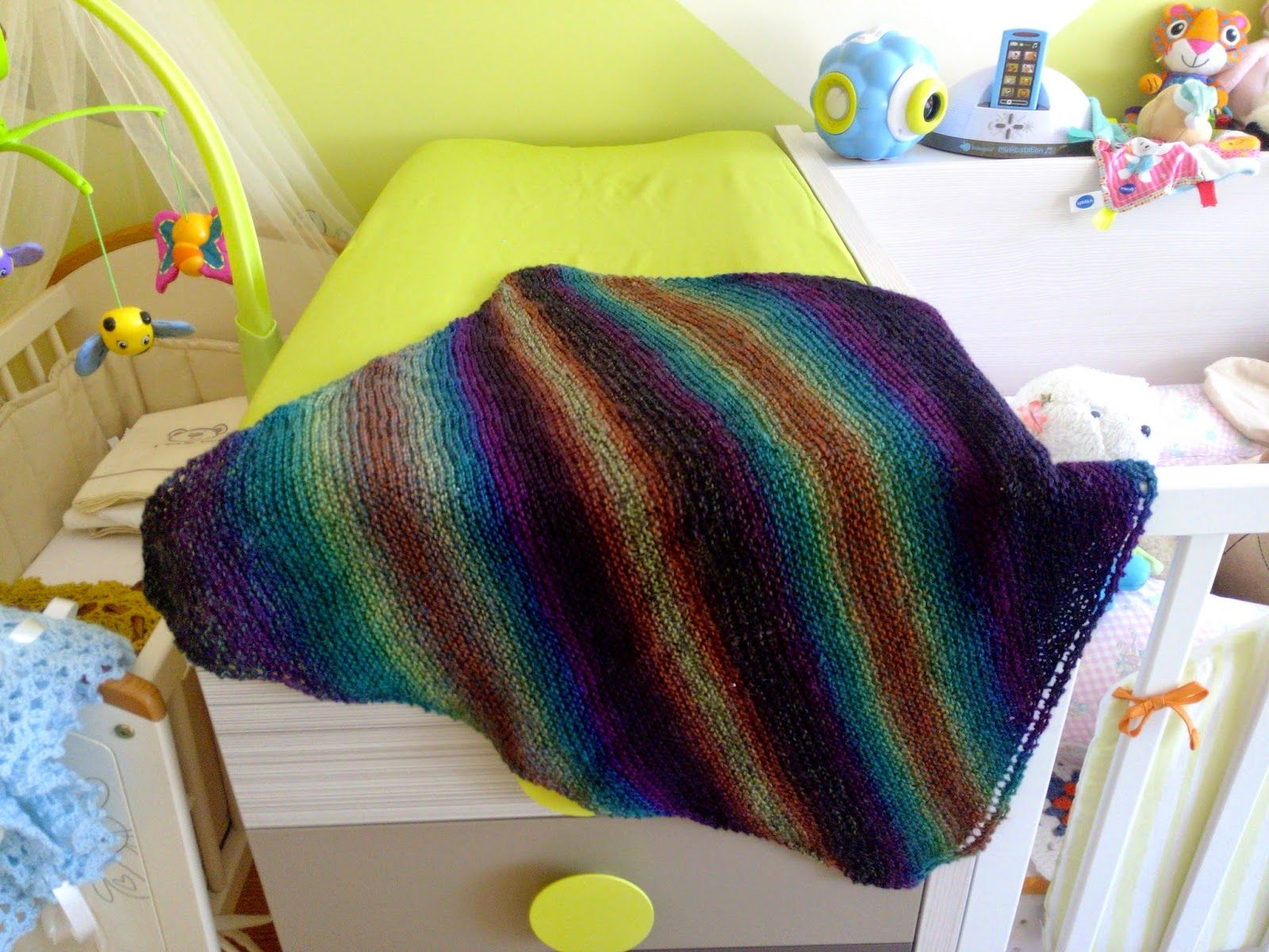 Free Knitting Pattern - Baby Blankets & Afghans: Sock Yarn Baby ...