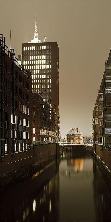 Warehouse District, Hamburg, Germany.